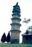 千年以上前の寺院の塔